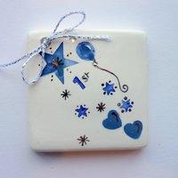 1st birthday tile tag 5cm sq-1