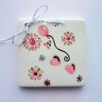 1st birthday tile tag 5cm sq