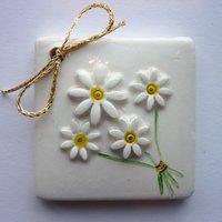 3D Bouquet tile tag 5cm sq-1