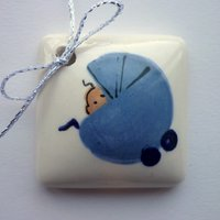Baby boy tile tag 4cm sq