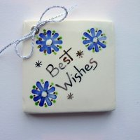 Best wishes tile tag 5cm sq