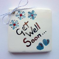 Get well soon tile tag 5cm sq