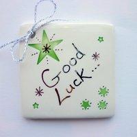 Good luck tile tag 5cm sq