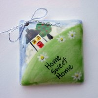 Home sweet home tile tag 4cm sq