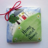Home sweet home tile tag 5cm sq