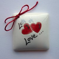 Lots of love tile tag 4cm sq