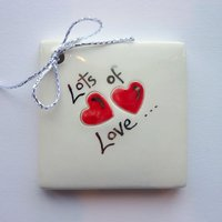 Lots of love tile tag 5cm sq