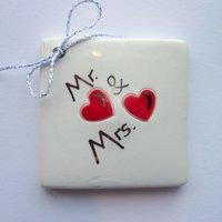 Mr & Mrs tile tag 5cm sq
