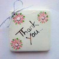 Thankyou tile tag 5cm sq