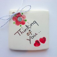 Thinking of you tile tag 5cm sq