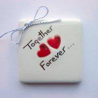 Together forever tile tag 5cm sq