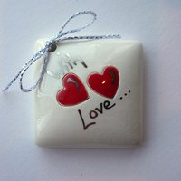 With love tile tag 4cm sq