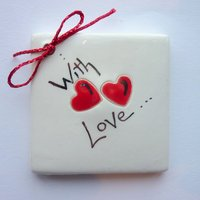 With love tile tag 5cm sq