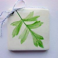 leaf tile tag 5cm sq